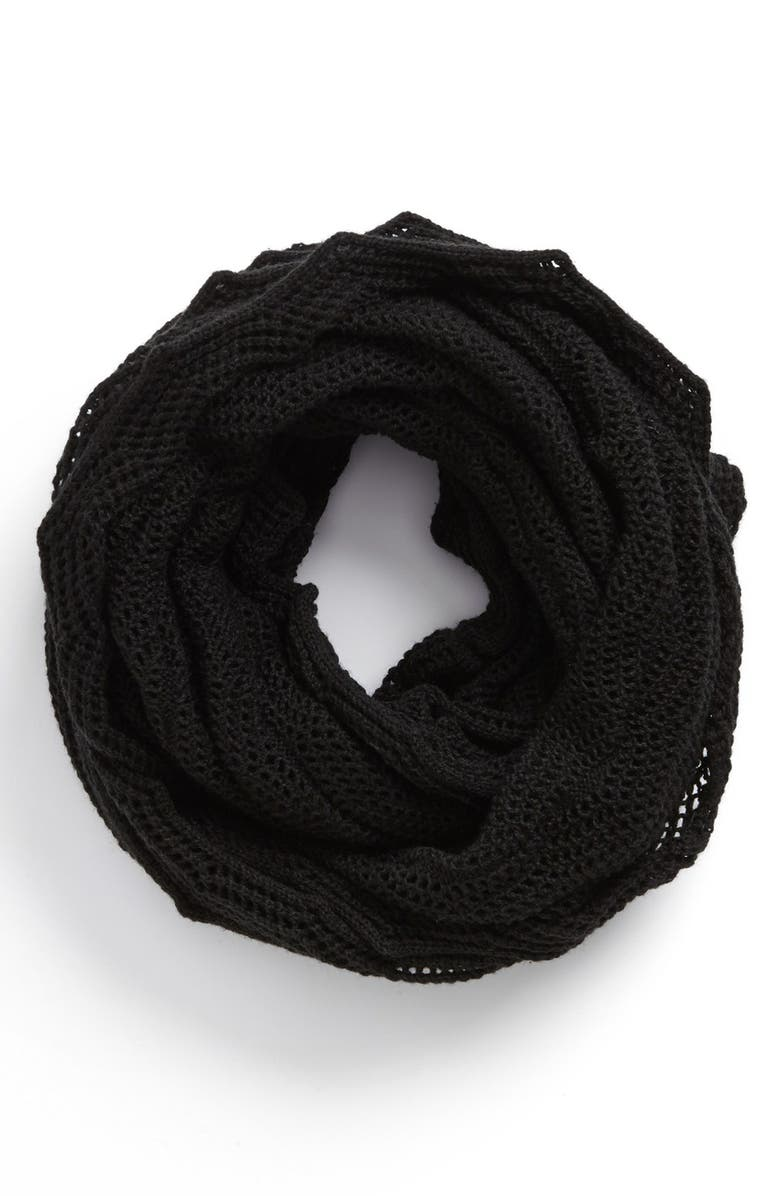 ECHO Open Stitch Infinity Scarf, Main, color, 001