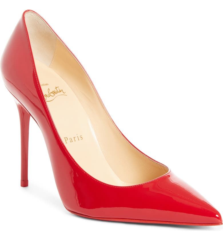 CHRISTIAN LOUBOUTIN 'Decollete' Pointy Toe Pump, Main, color, LOUBI RED