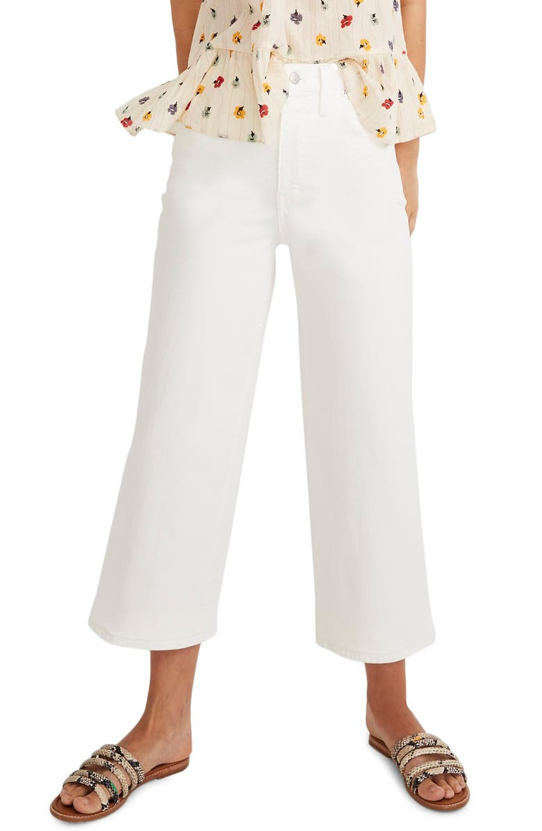 MADEWELL Crop Wide Leg Jeans, Main, color, 100