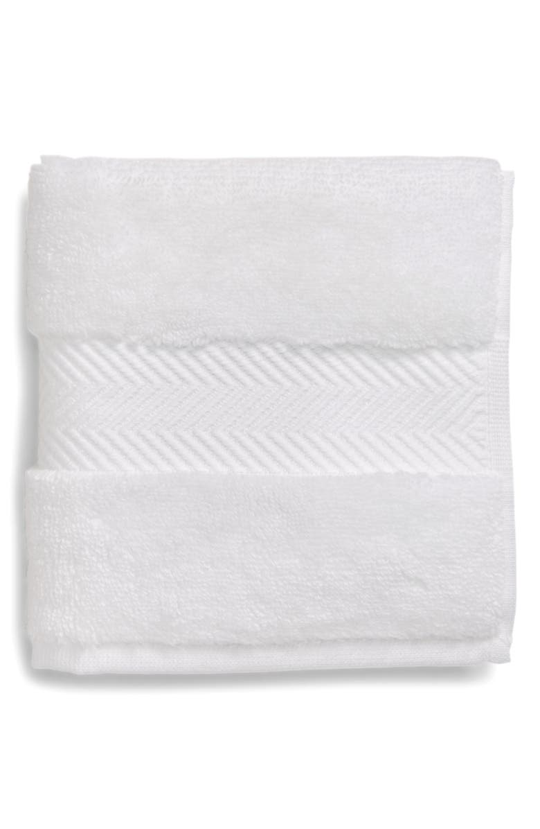 NORDSTROM AT HOME Hydrocotton Washcloth, Main, color, WHITE