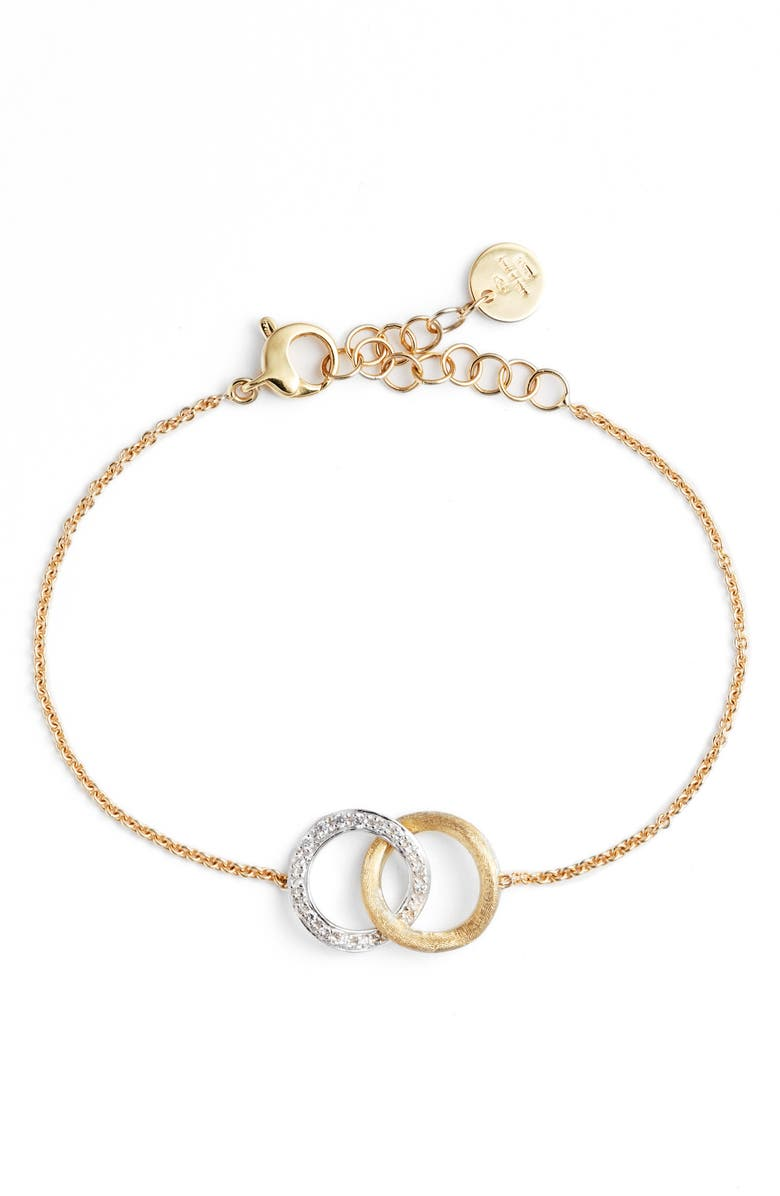 MARCO BICEGO Delicata Diamond Adjustable Bracelet, Main, color, YELLOW GOLD