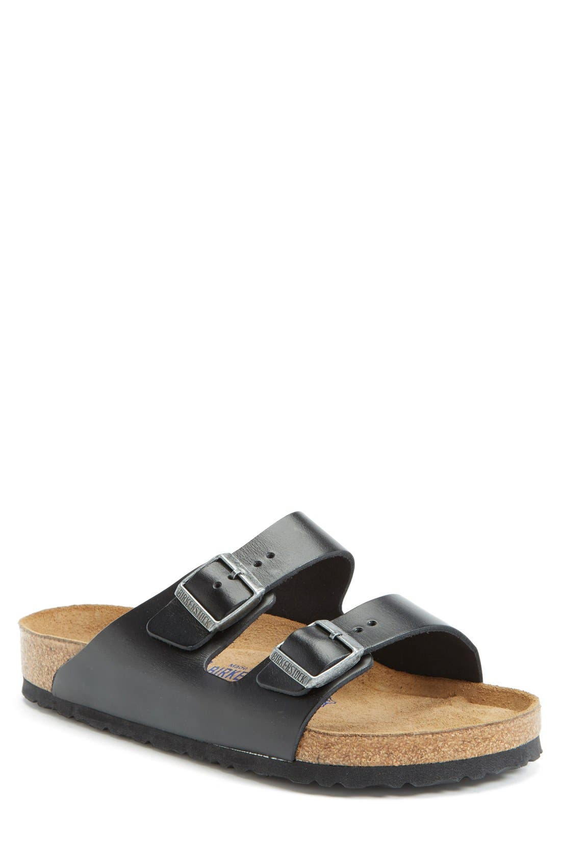 'Arizona Soft' Sandal, Main, color, BLACK