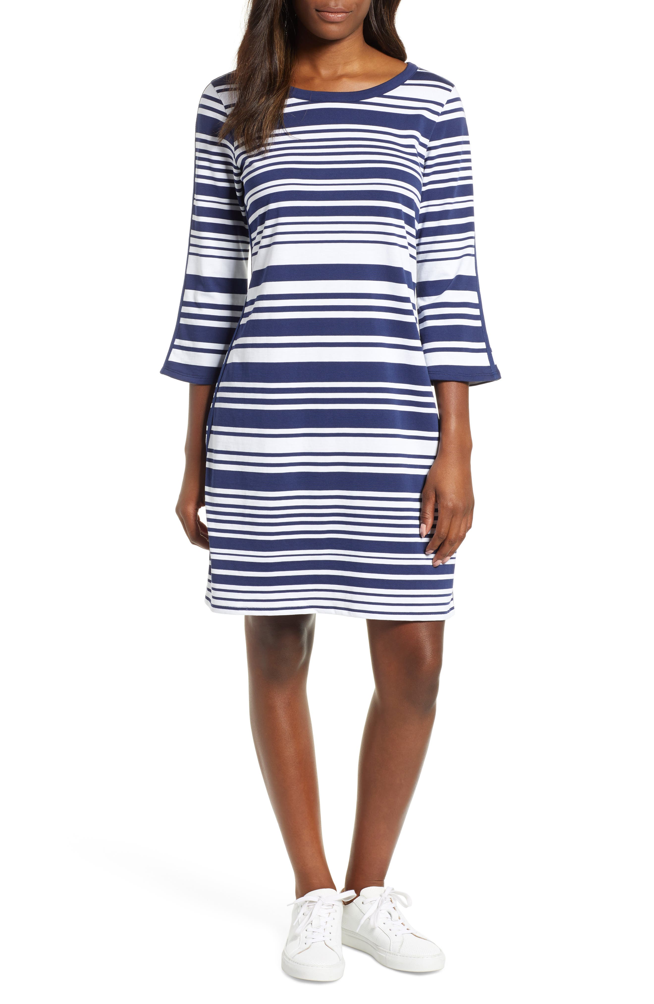 Tommy Bahama Knotty Stripe Shift Dress, Blue