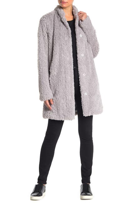 Image of Kenneth Cole New York Shaggy Faux Fur Coat