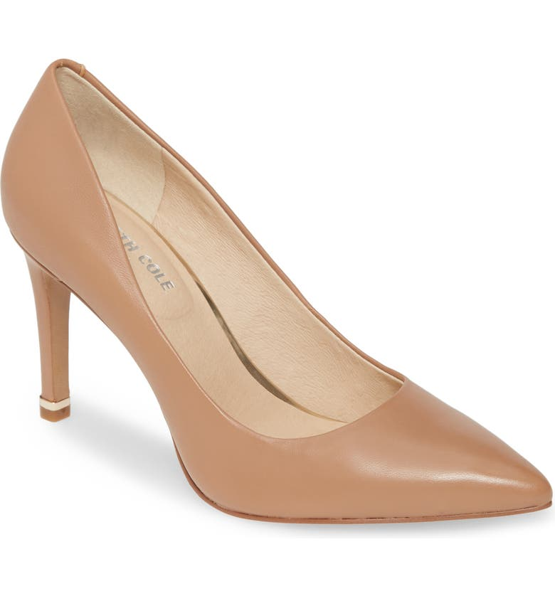 KENNETH COLE NEW YORK Riley 85 Pump, Main, color, LATTE LEATHER