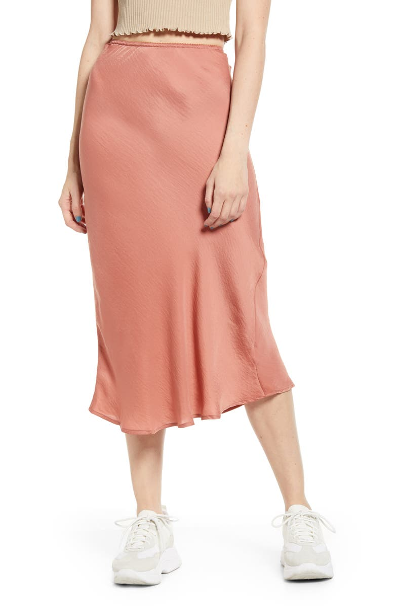 BAND OF GYPSIES Good Lovin Midi Slip Skirt, Main, color, 950