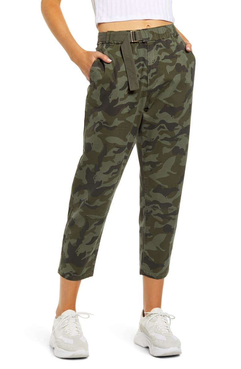 UNIONBAY Camo Crop Skate Pants, Main, color, 300