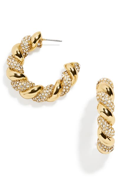 Baublebar Earrings PAVE TWISTED HOOP EARRINGS