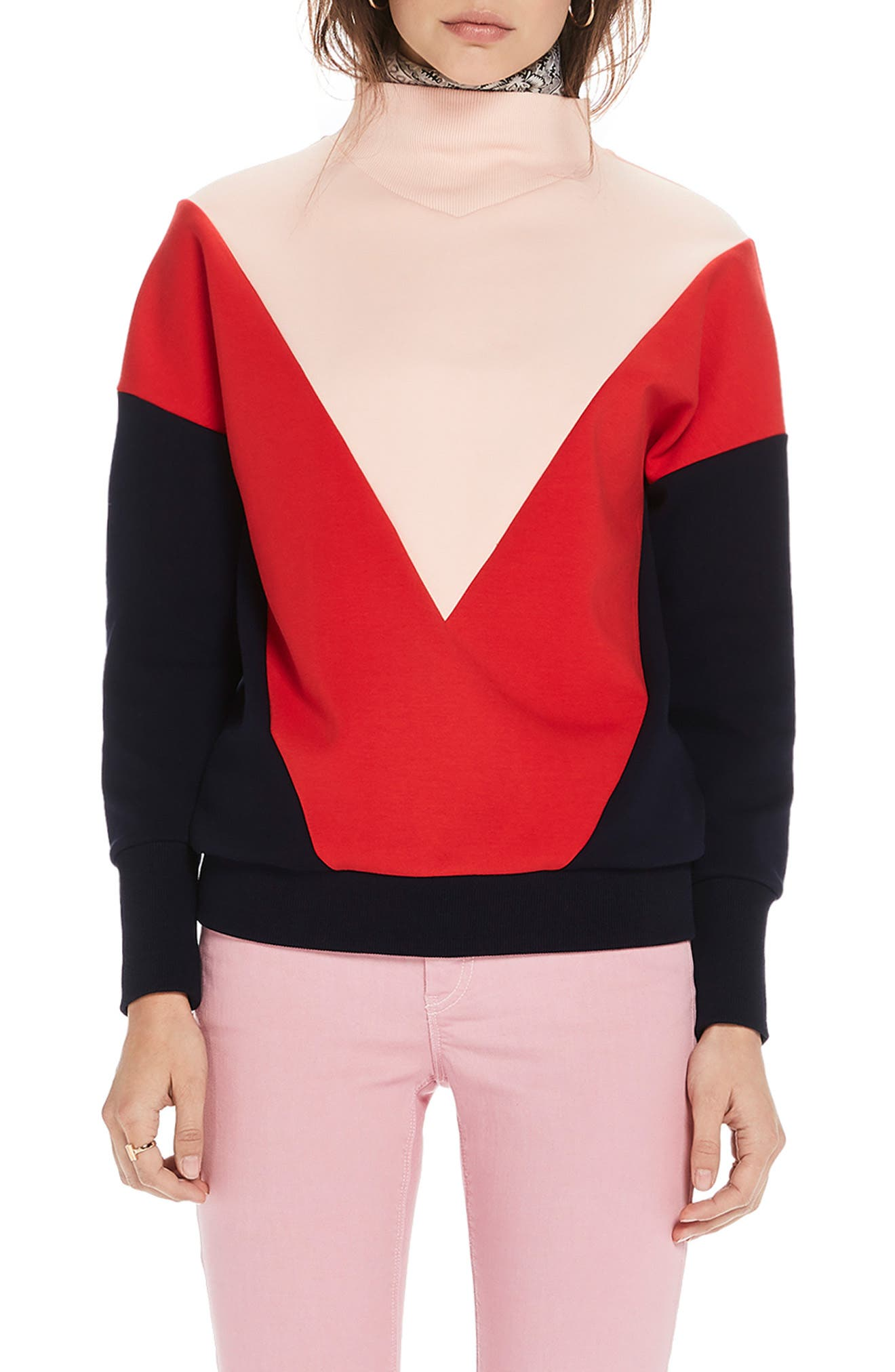 ,                             Colorblock Sweatshirt,                             Main thumbnail 1, color,                             650