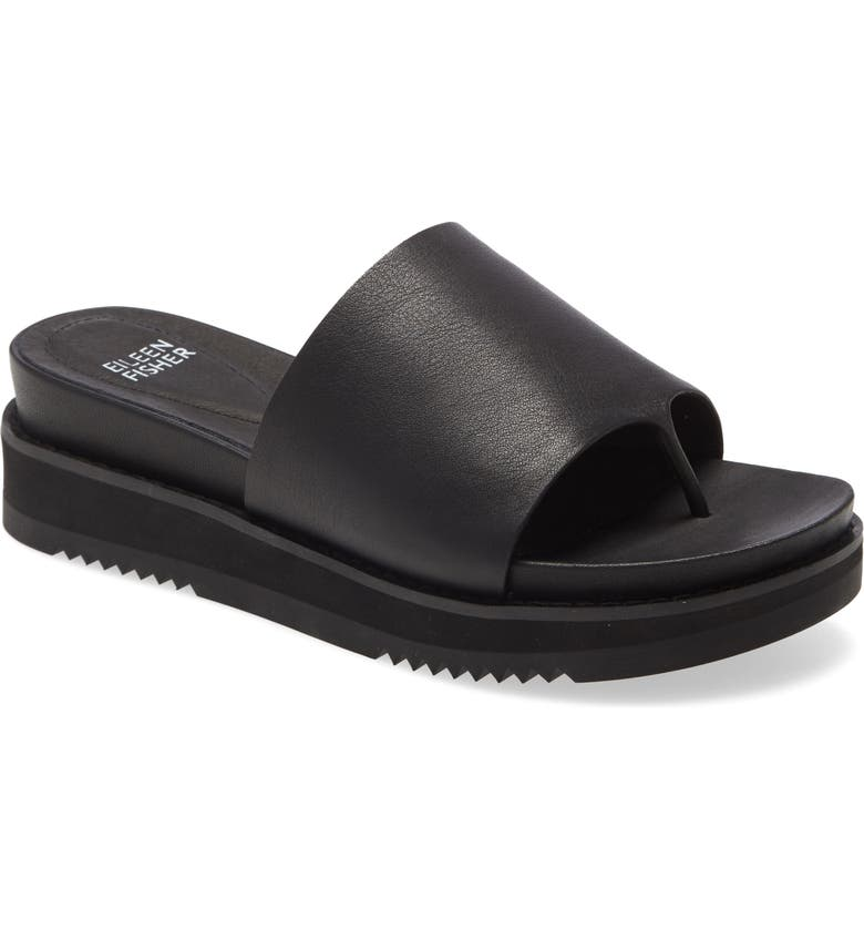 EILEEN FISHER Touch Platform Sandal, Main, color, 001
