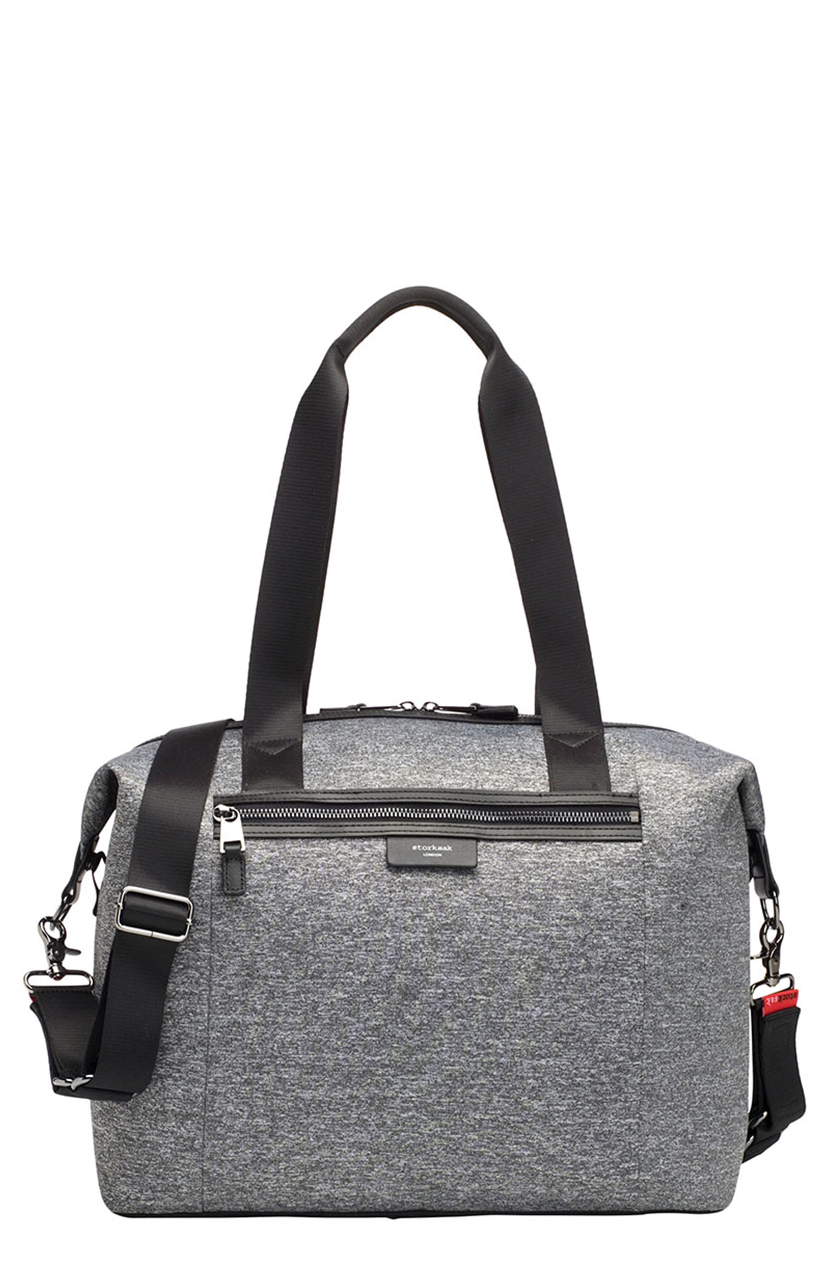 Infant Storksak Stevie Luxe Diaper Bag  Grey