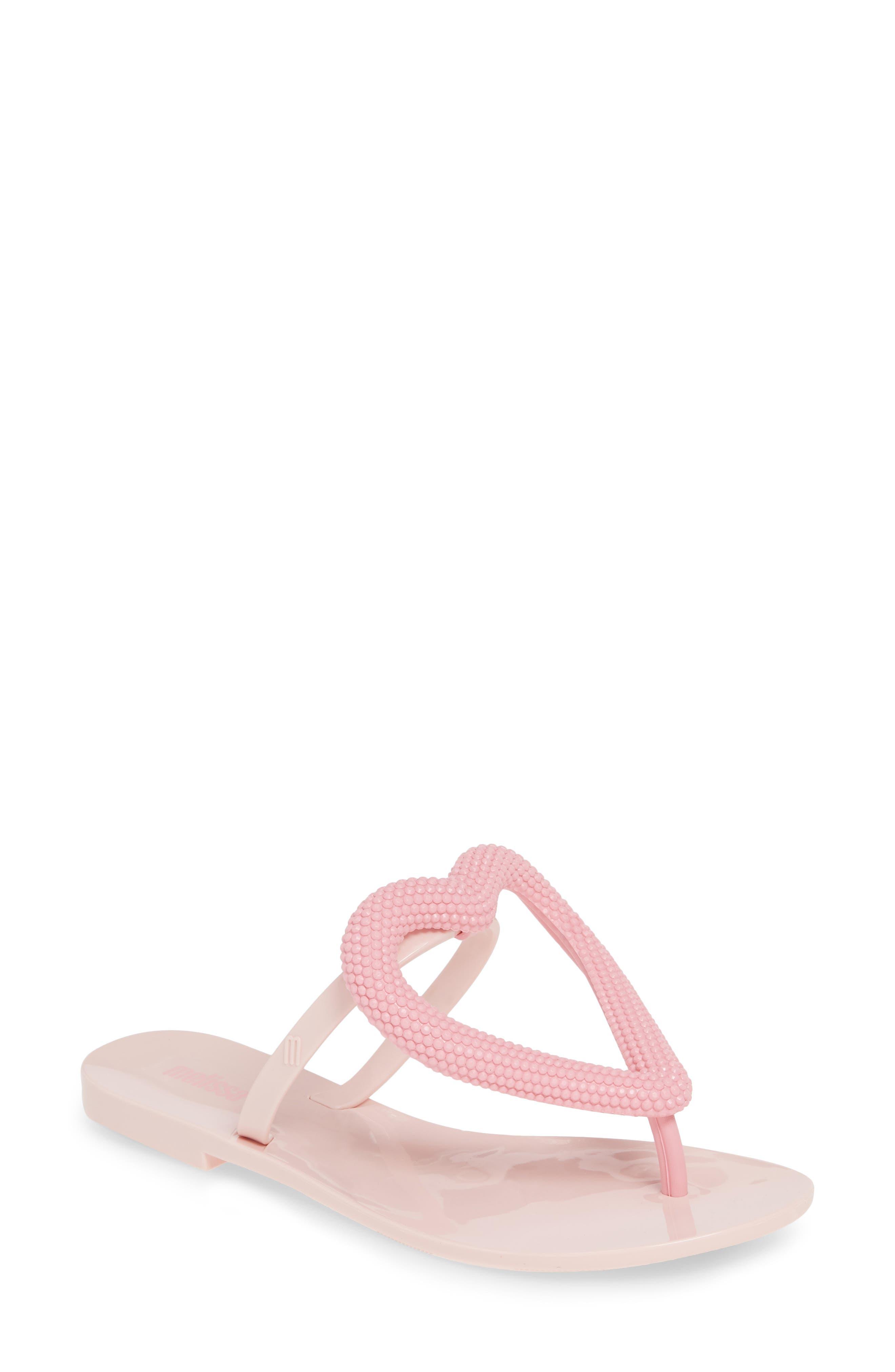 Melissa Big Heart Flip Flop, Pink