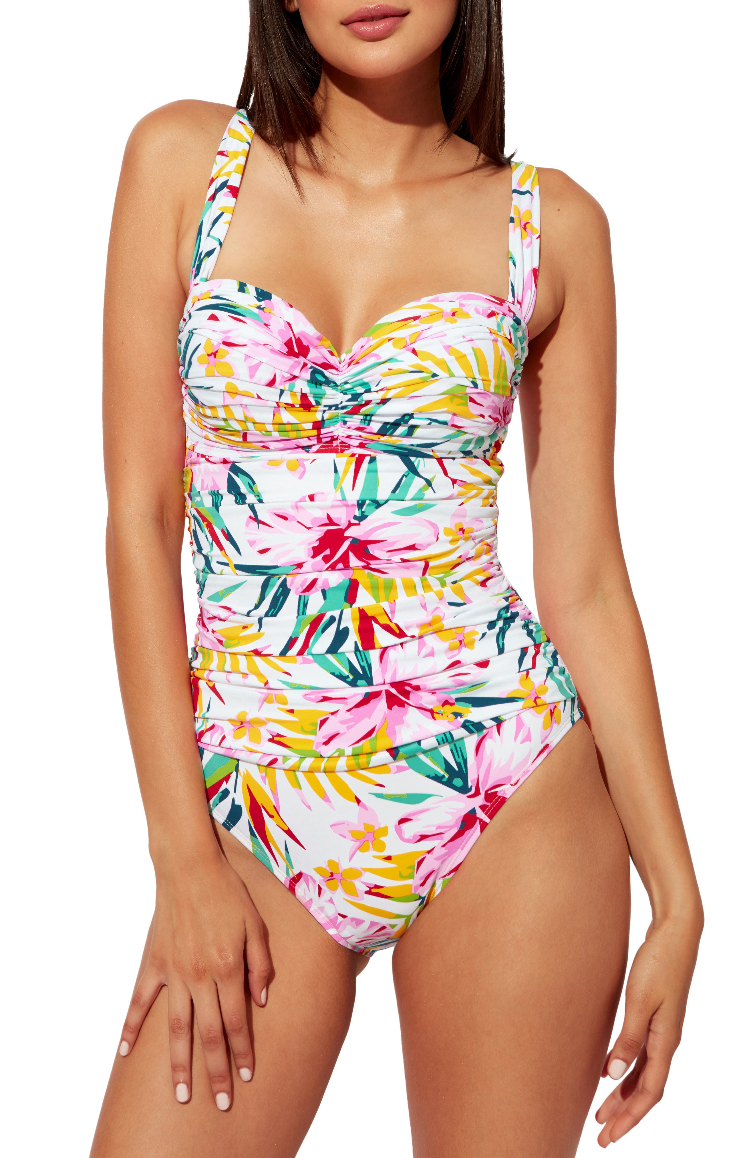 Beachy Keen Shirred One-Piece Swimsuit