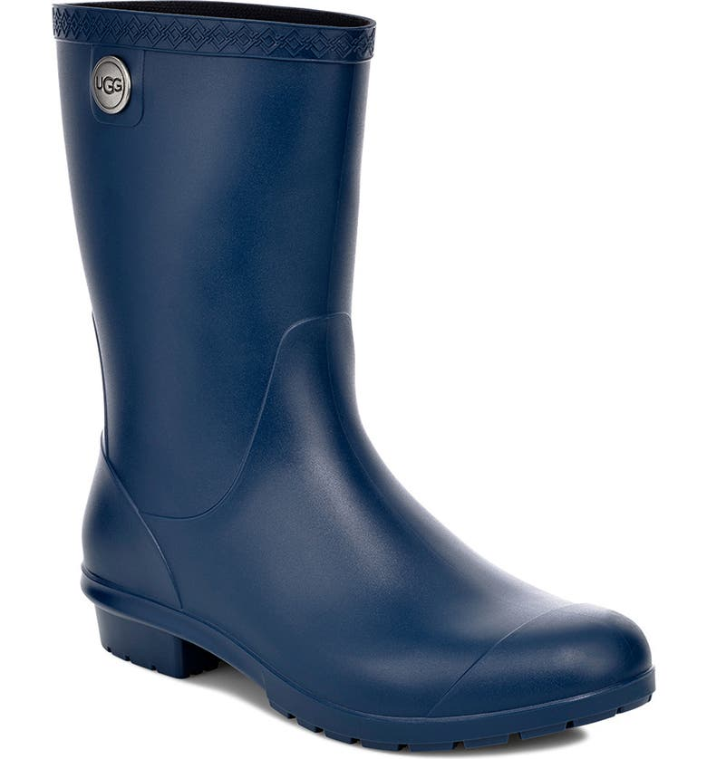 UGG<SUP>®</SUP> Sienna Rain Boot, Main, color, BLUE JAY RUBBER