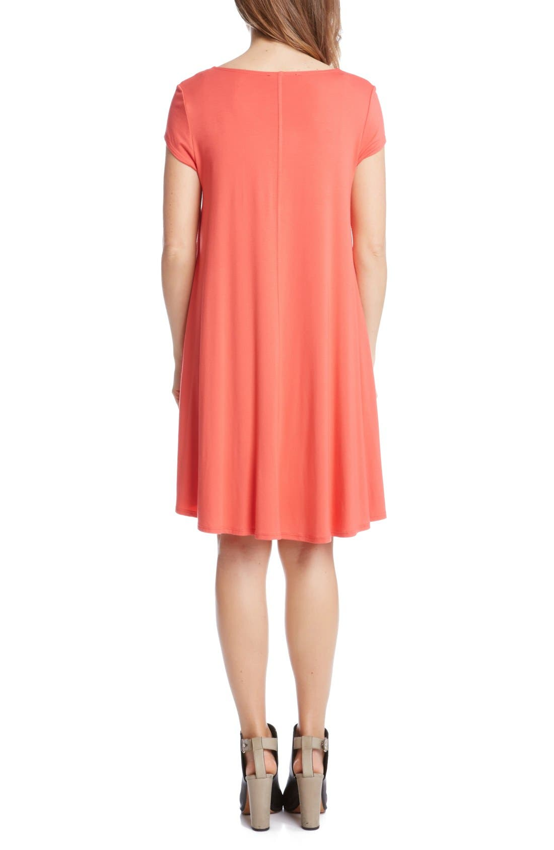 ,                             'Maggie' Cap Sleeve Trapeze Dress,                             Alternate thumbnail 27, color,                             676