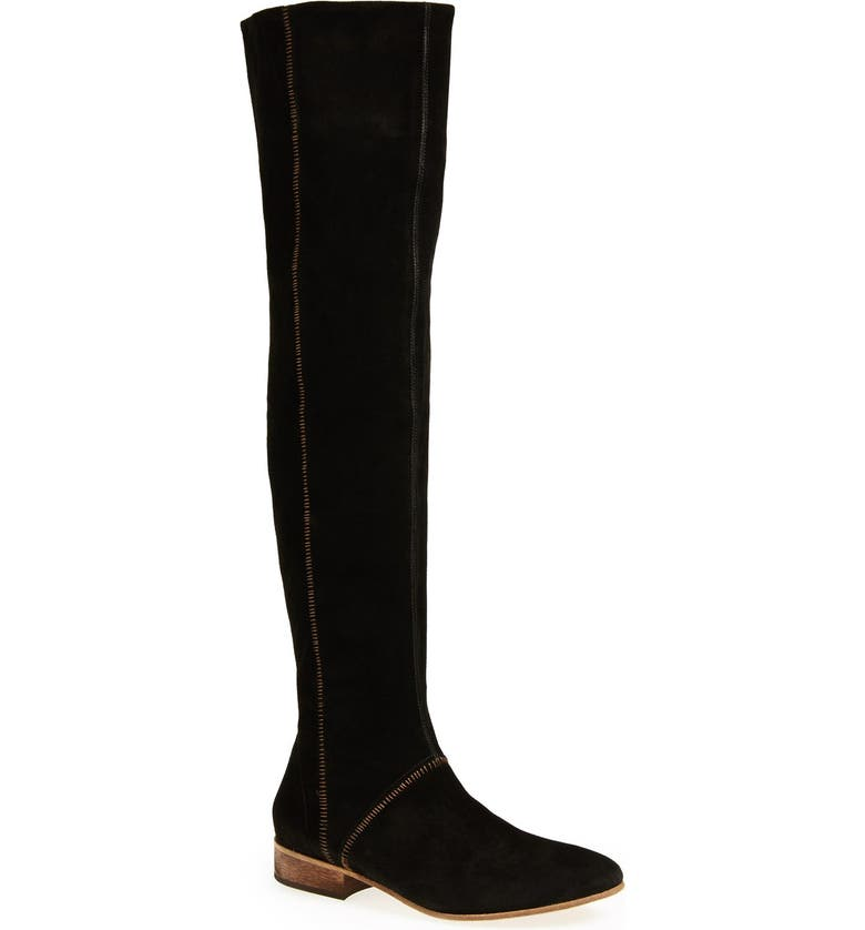 FREE PEOPLE 'Grandeur' Suede Over-The-Knee Boot, Main, color, 001