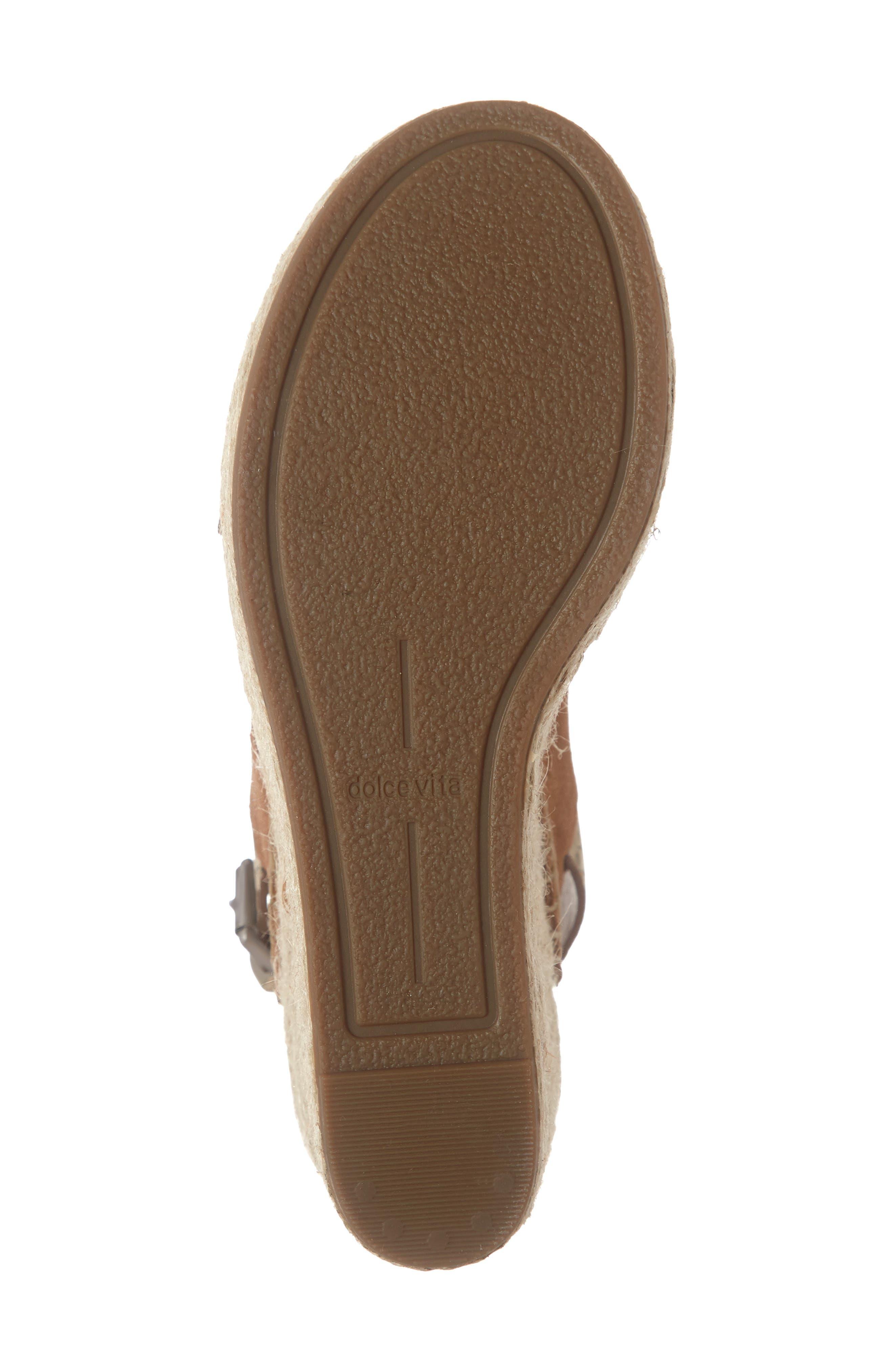 ,                             Spiro Platform Wedge Sandal,                             Alternate thumbnail 6, color,                             BROWN SUEDE
