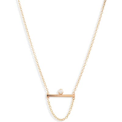 Zoe Chicco Straight Bar Necklace