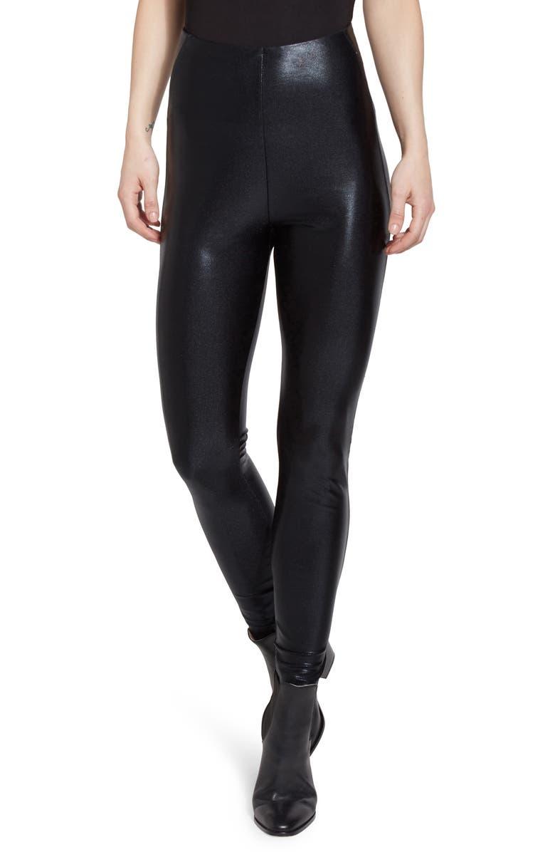 LYSSÉ Super High Waist Faux Leather Leggings, Main, color, 001