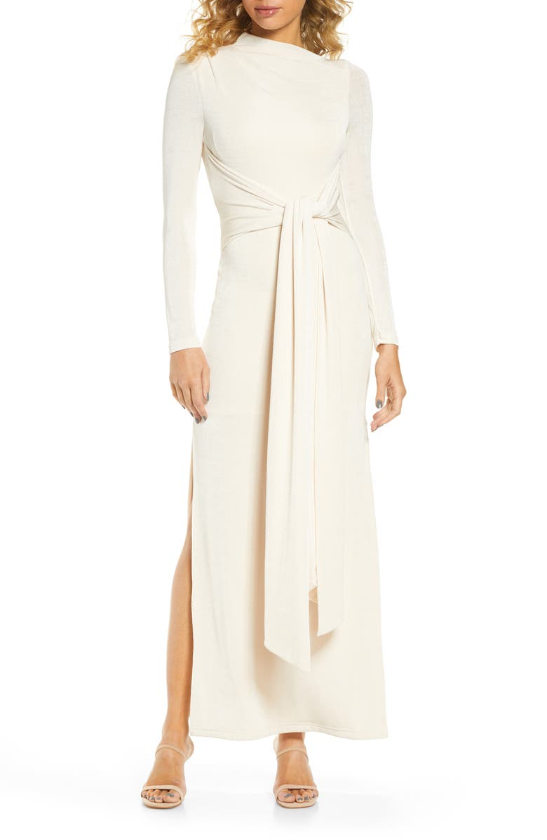 SIGNIFICANT OTHER Sabine Long Sleeve Maxi Dress, Main, color, CREAM
