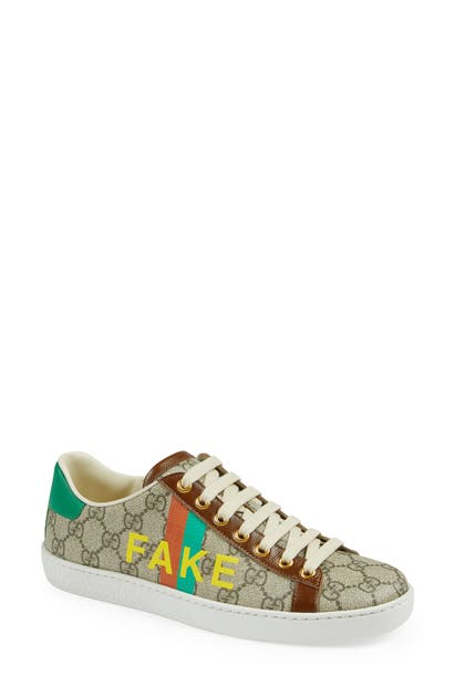 Gucci Canvases ACE FAKE/NOT GG SUPREME SNEAKER