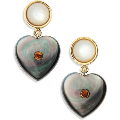 Lizzie Fortunato Forevermore Heart Earrings