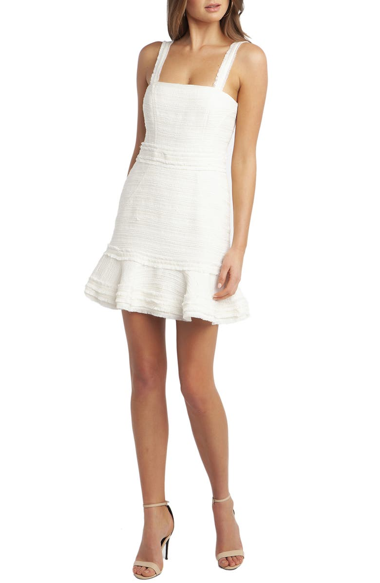 BARDOT Bouclé Minidress, Main, color, ORCHID