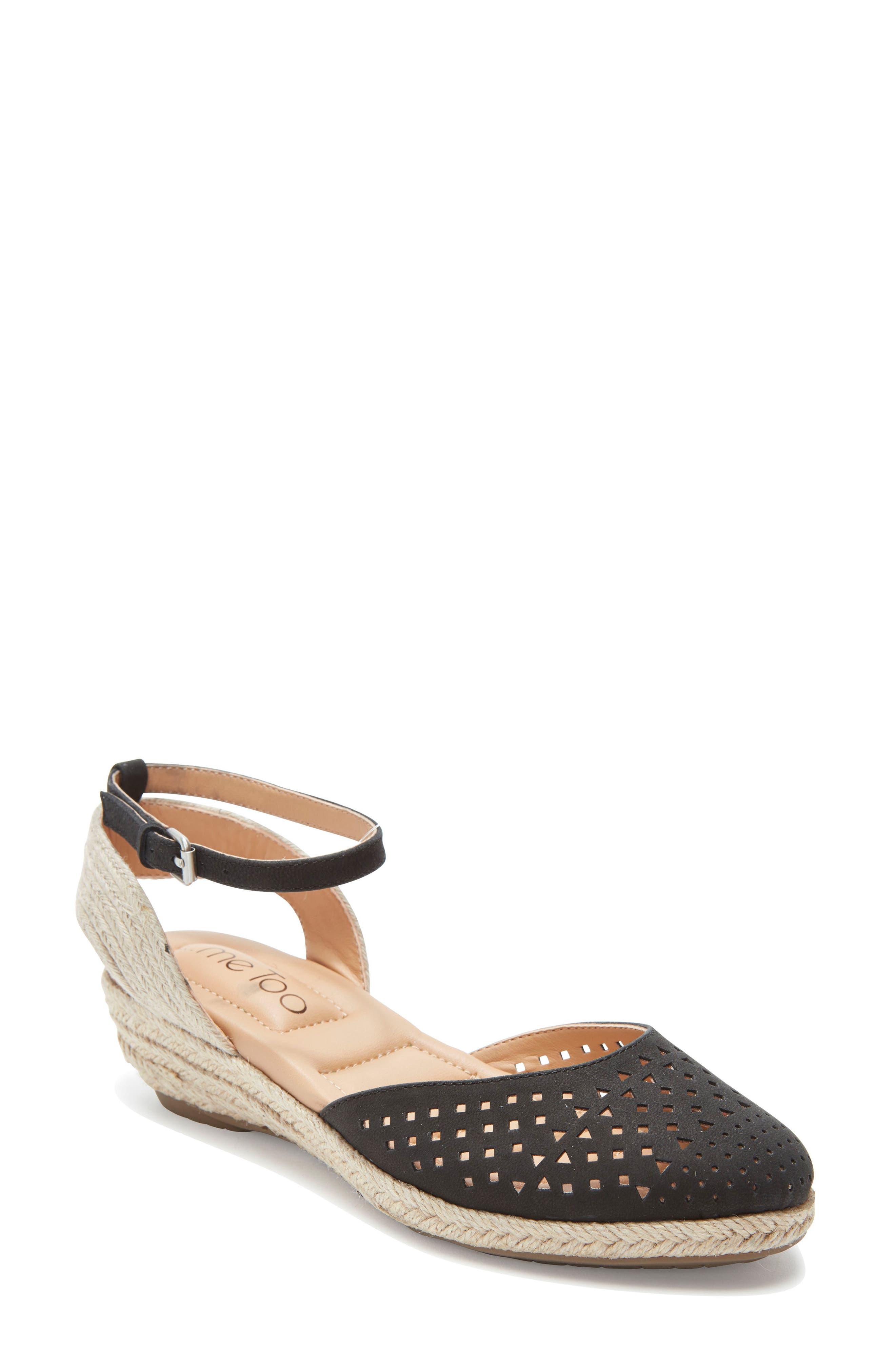 Norina Espadrille Sandal, Main, color, BLACK NUBUCK