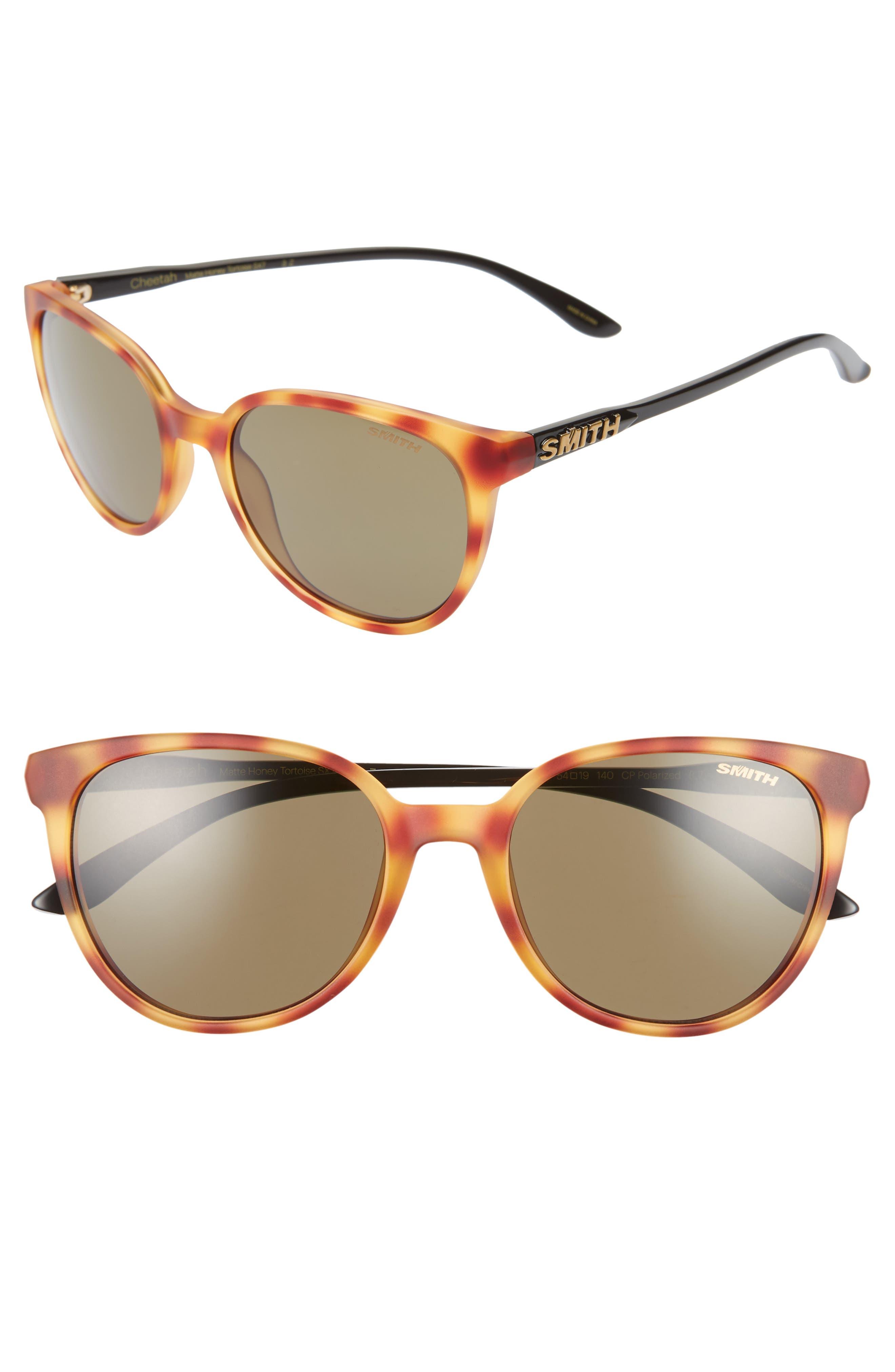 ,                             Cheetah 53mm ChromaPop<sup>™</sup> Polarized Sunglasses,                             Main thumbnail 1, color,                             HONEY TORTOISE/ GREY GREEN