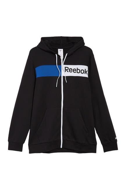Image of Reebok Linear Logo Full Zip Hoodie