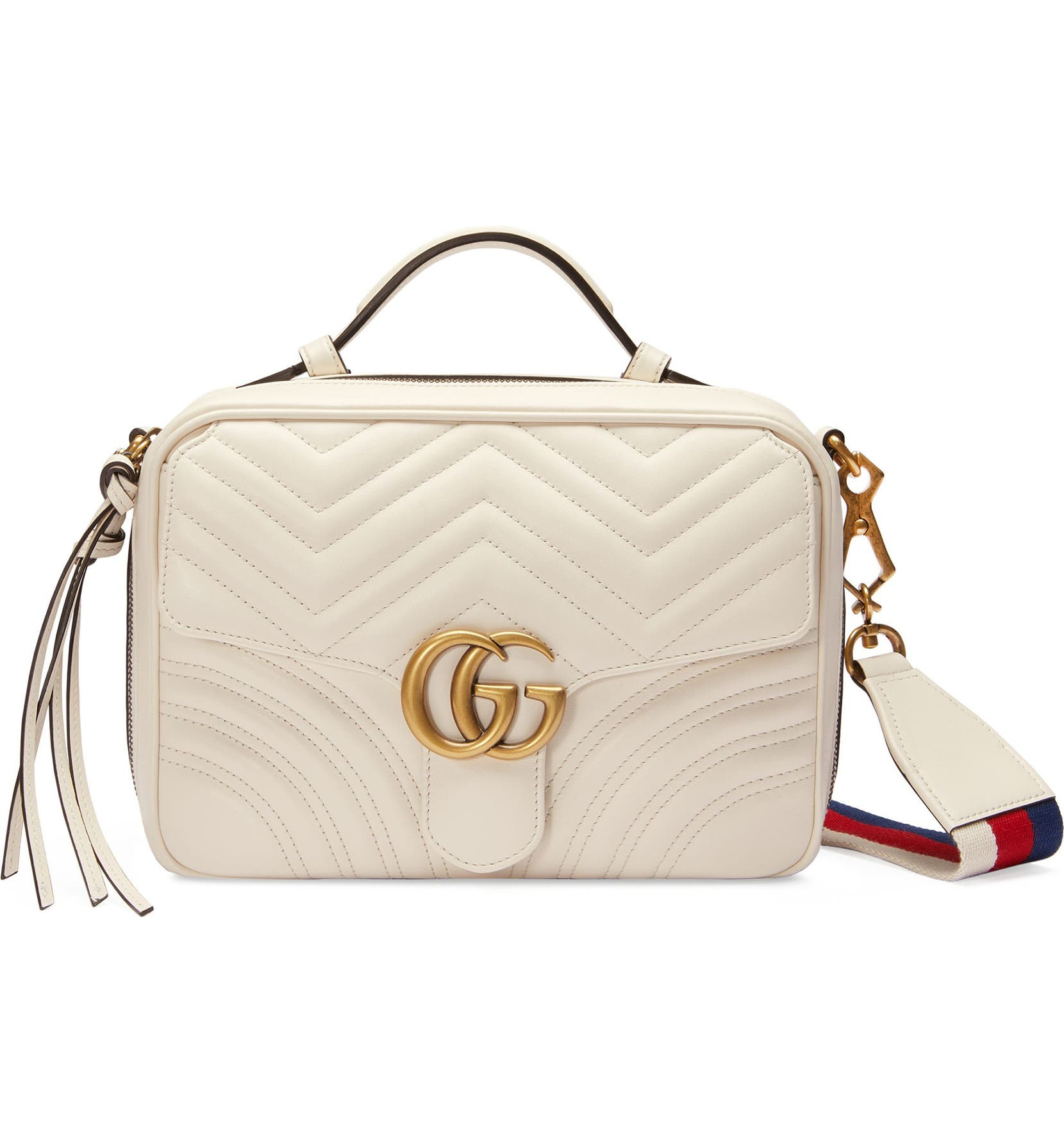 0e8343d89b85 Gucci Small GG Marmont 2.0 Matelassé Leather Camera Bag with Webbed Strap |  Nordstrom