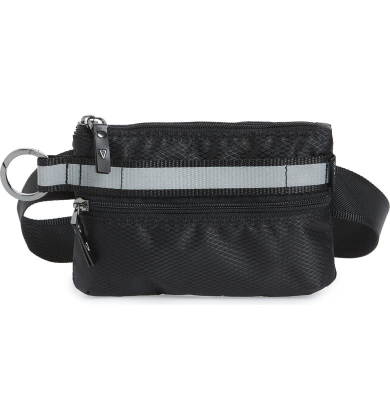 ANDI Urban Clutch Convertible Belt Bag, Main, color, BLACK/ REFLECTIVE STRIPE