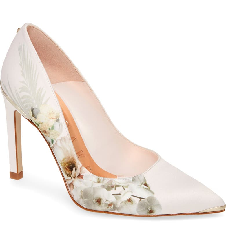TED BAKER LONDON Mwelni Pointed Toe Pump, Main, color, PINK SATIN