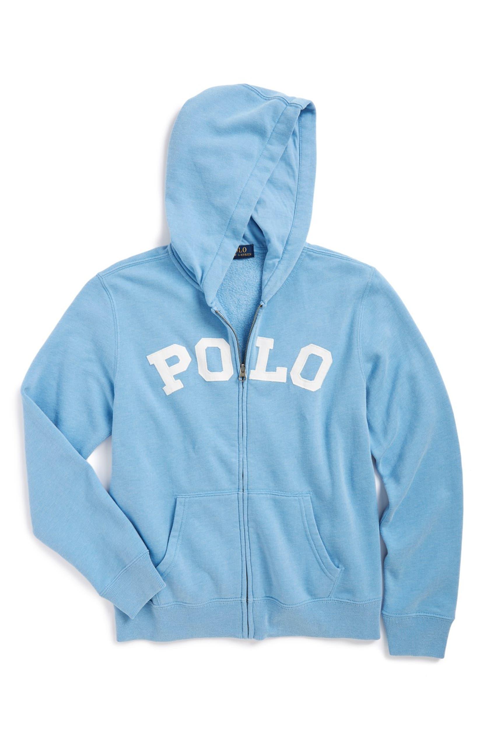 02cecf25a Ralph Lauren 'Polo' Full Zip Hoodie (Big Boys)   Nordstrom
