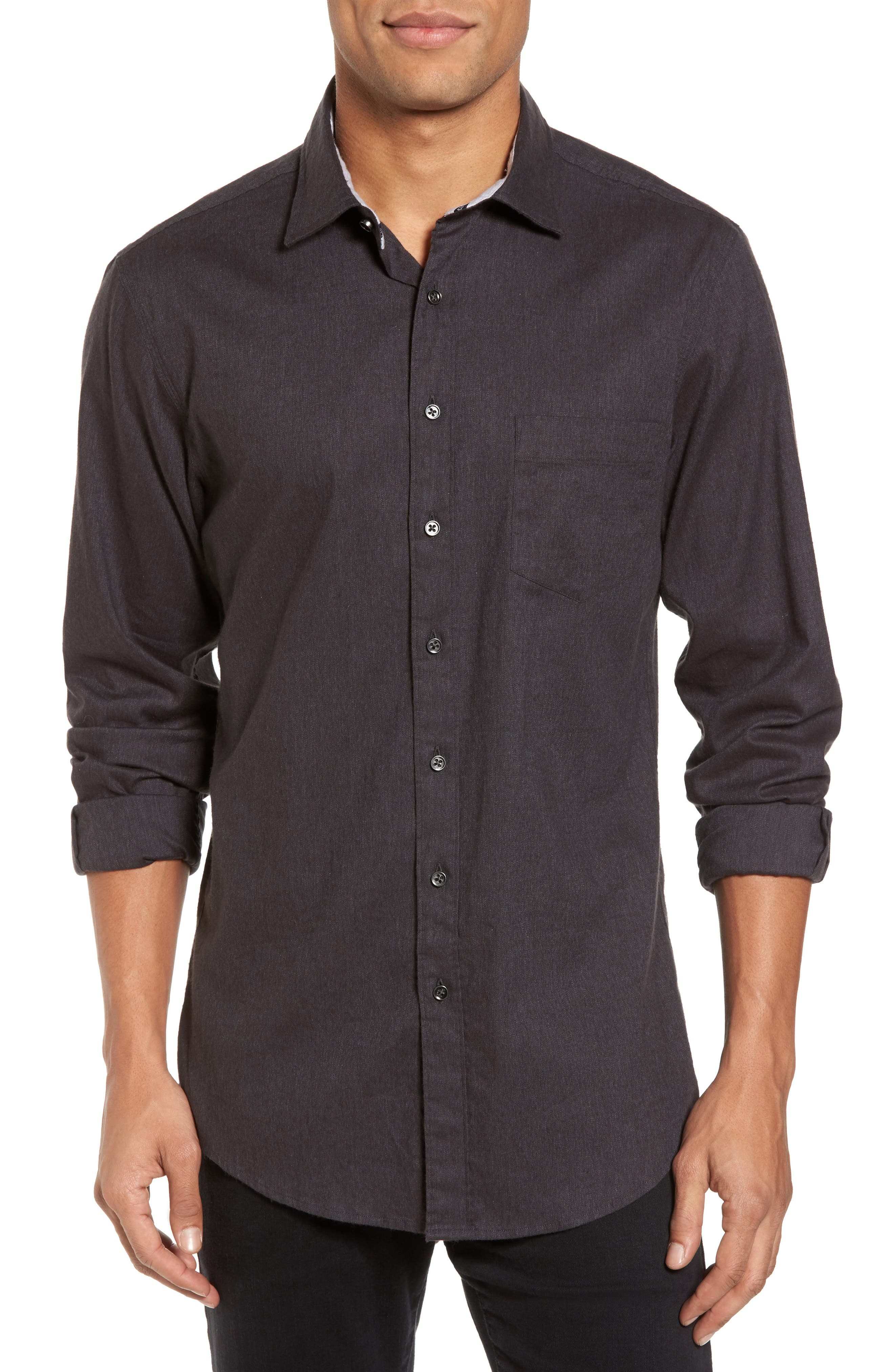 Image of RODD AND GUNN Sinclair Brushed Twill Trim Fit Shirt