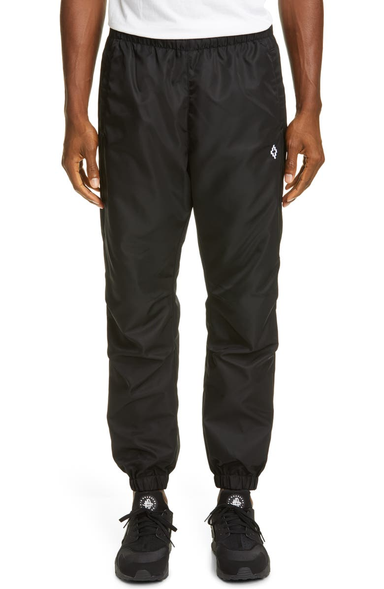 MARCELO BURLON Red Eye Jogger Pants, Main, color, BLACK MULTI