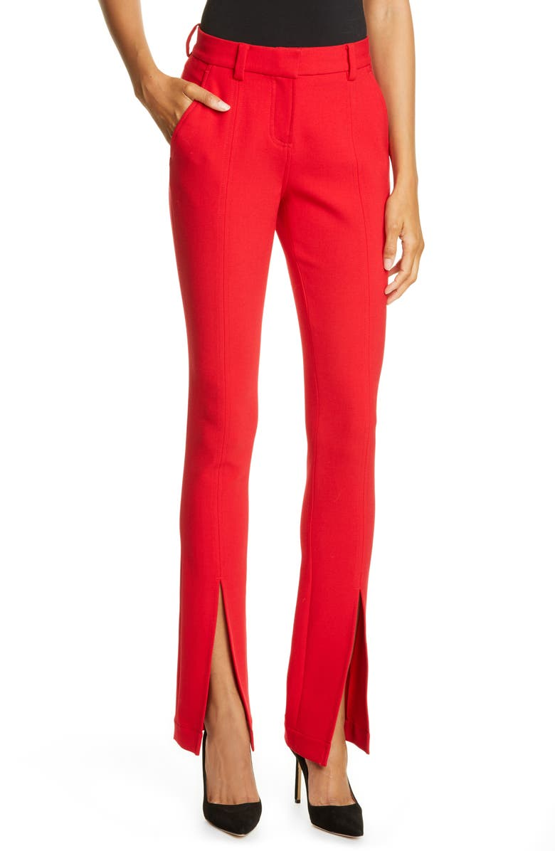 A.L.C. Conway Front Slit Pants, Main, color, RED