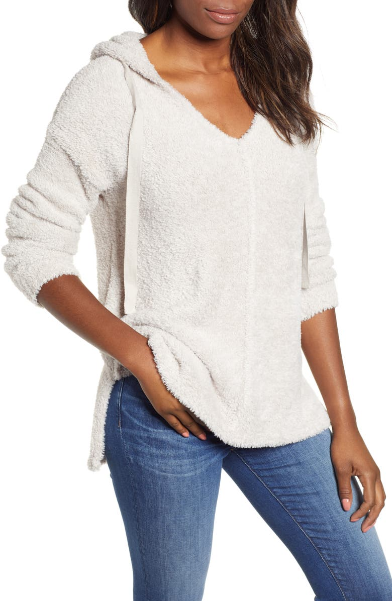 CASLON<SUP>®</SUP> Off-Duty Sweater Hoodie, Main, color, 050