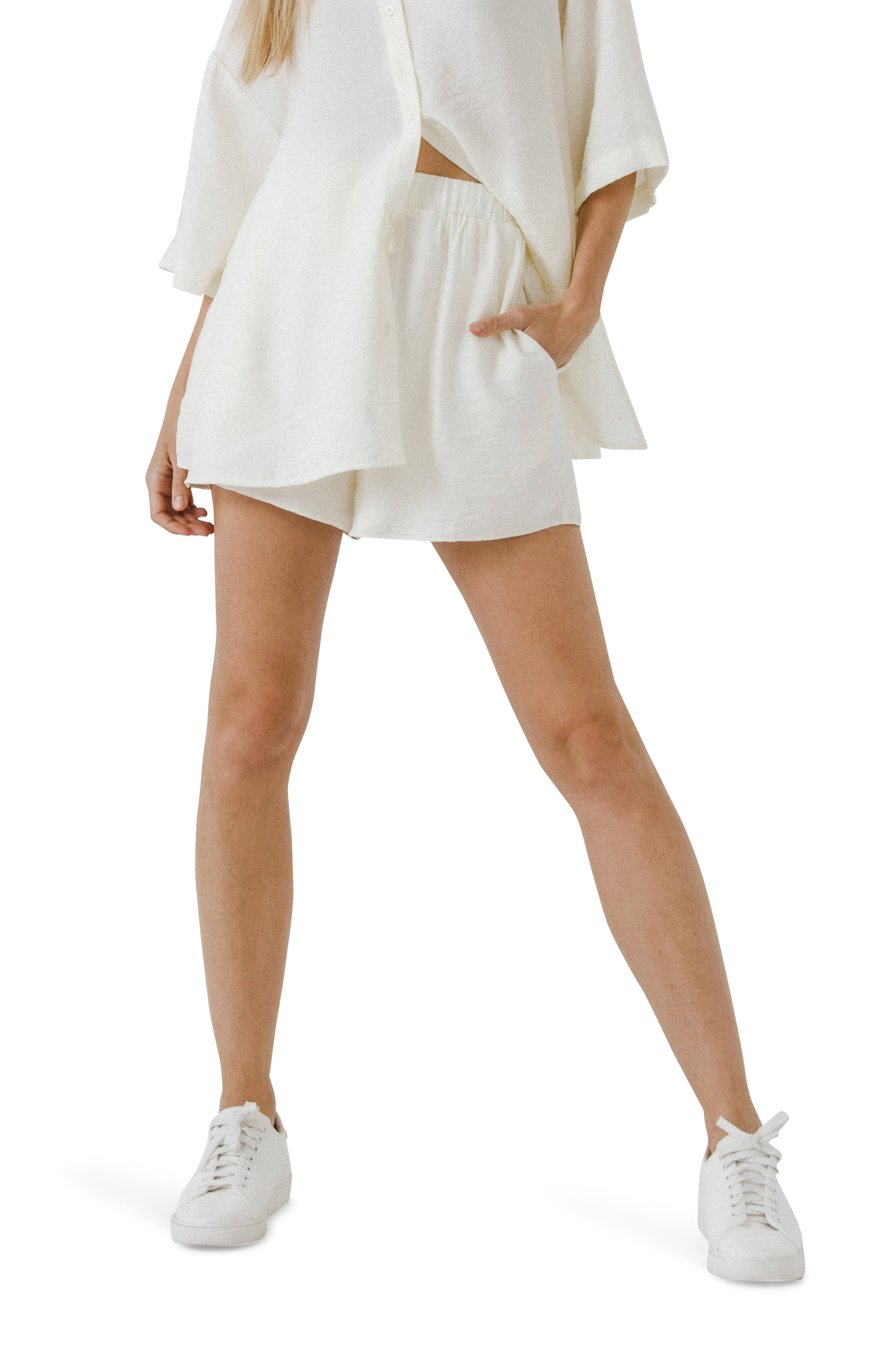 Oversize Drawstring Shorts