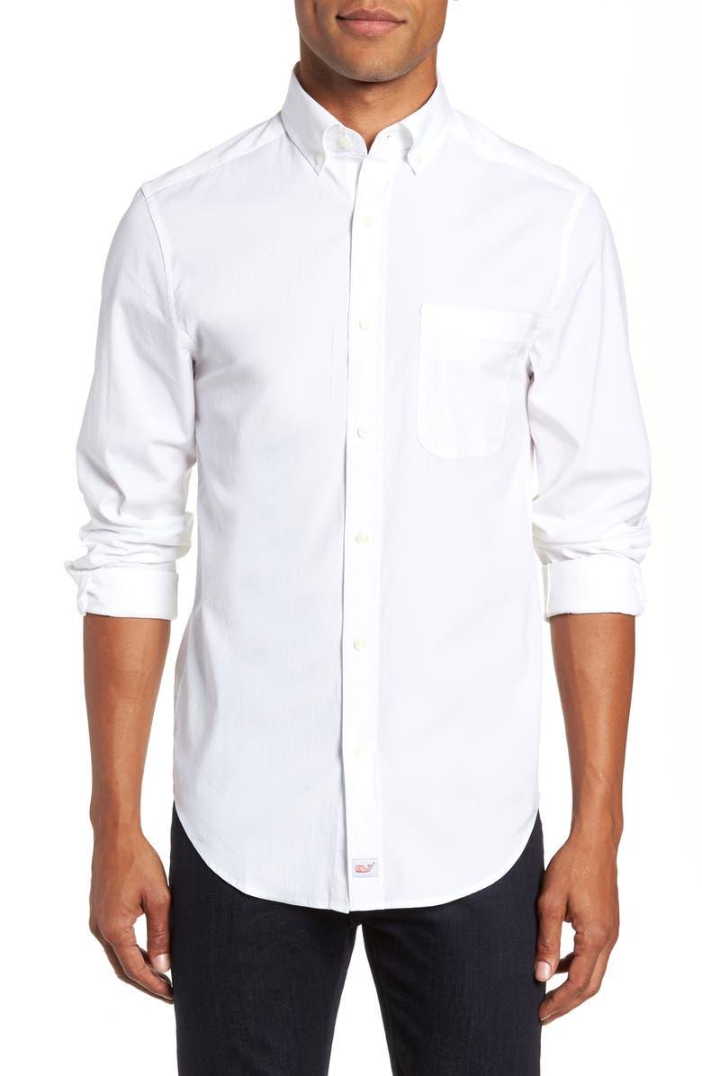 VINEYARD VINES Murray Regular Fit Sport Shirt, Main, color, 100
