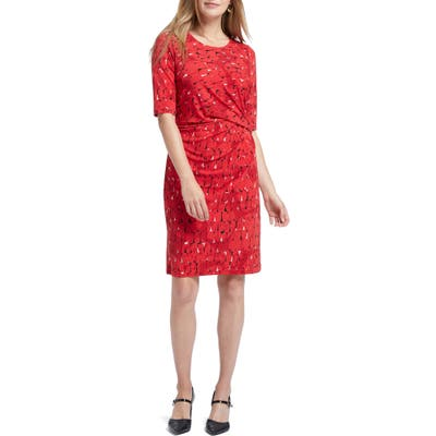 Nic+Zoe Stony Path Drape Dress, Red