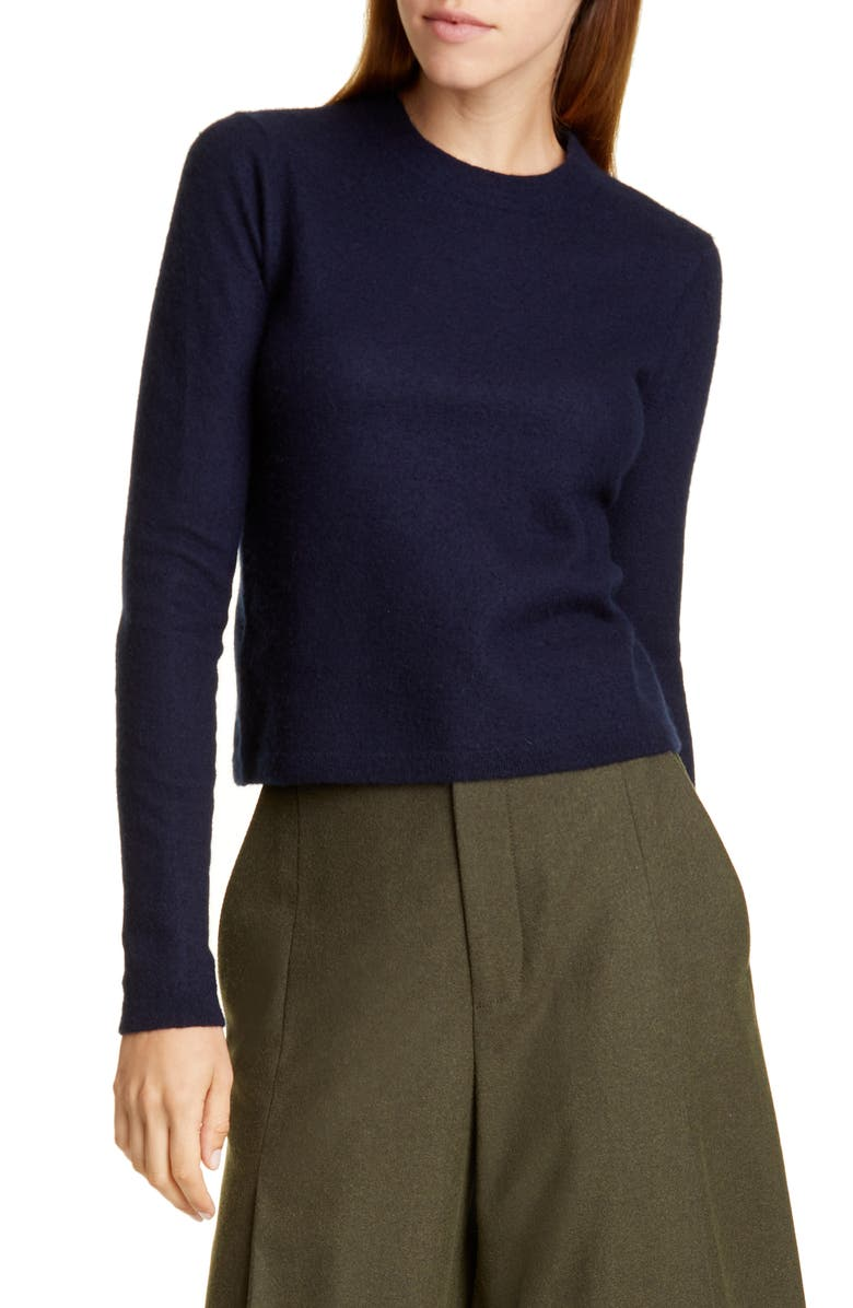 VINCE Fitted Crop Cashmere Sweater, Main, color, BALTIC