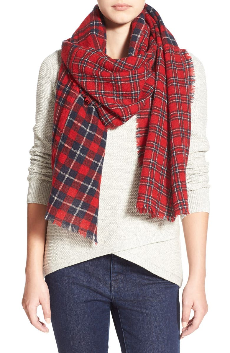 MADEWELL Patchwork Plaid Scarf, Main, color, 600