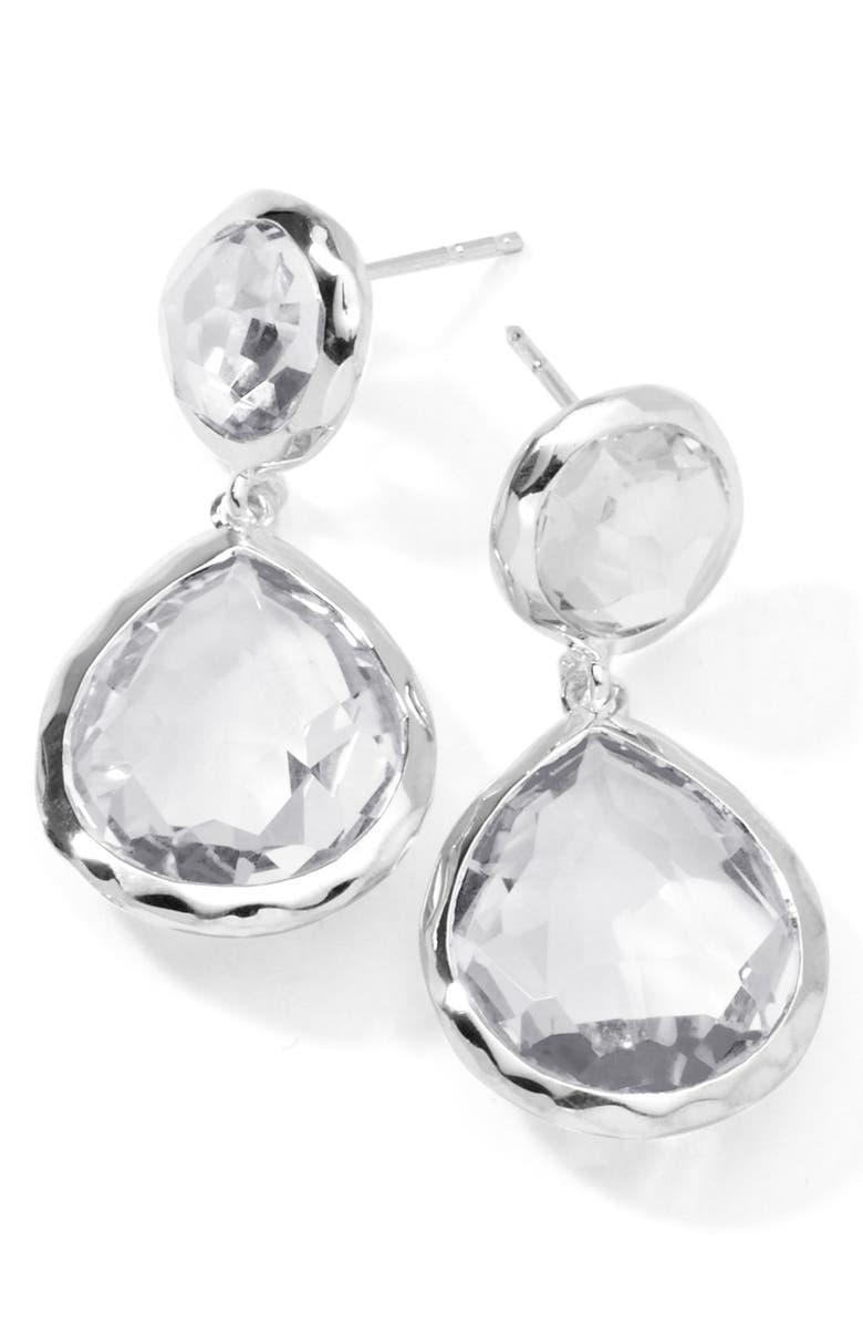IPPOLITA 'Rock Candy - Snowman' Drop Earrings, Main, color, SILVER/CLEAR QUARTZ