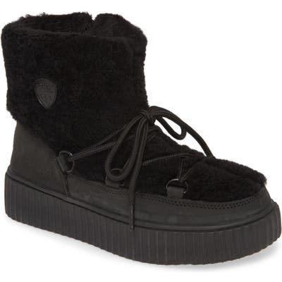 Pajar Ceria Genuine Shearling Waterproof Sneaker Boot, Black