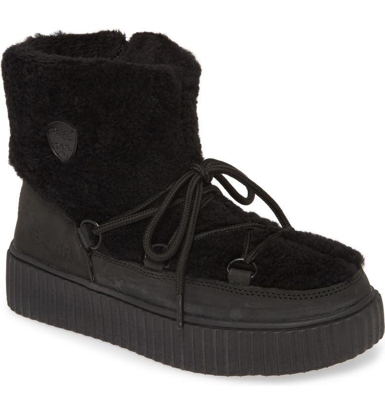 PAJAR Ceria Genuine Shearling Waterproof Sneaker Boot, Main, color, BLACK