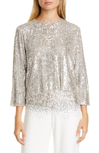 Sachin & Babi Tops SEQUIN LAYERED BLOUSE