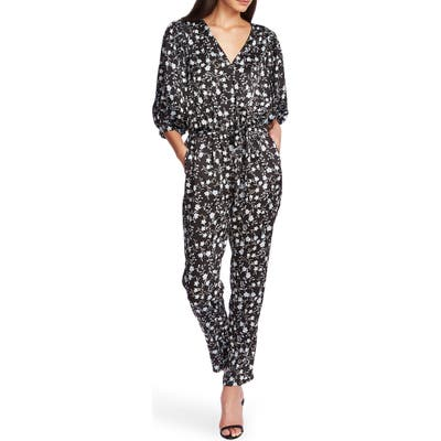 1.state Romantic Vines Jumpsuit, Black