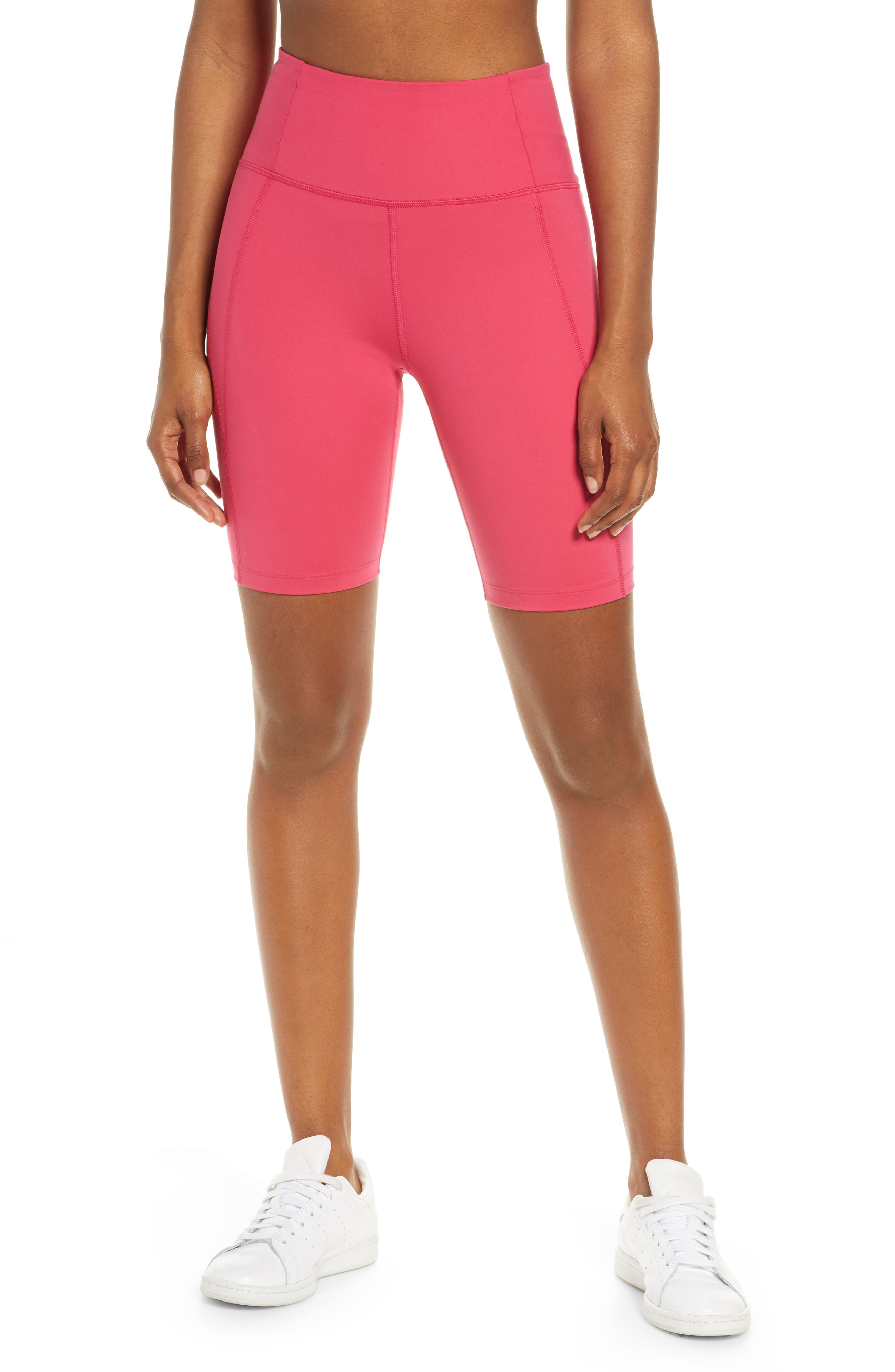 Plus  Women's Girlfriend Collective High Waist Bike Shorts,  XX-Large - Pink