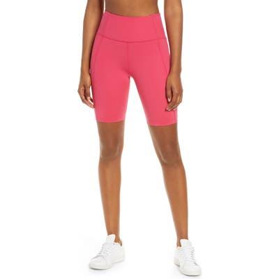 Girlfriend Collective High Waist Bike Shorts, Pink